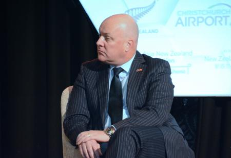 Air New Zealand CEO Christopher Luxon at the summit