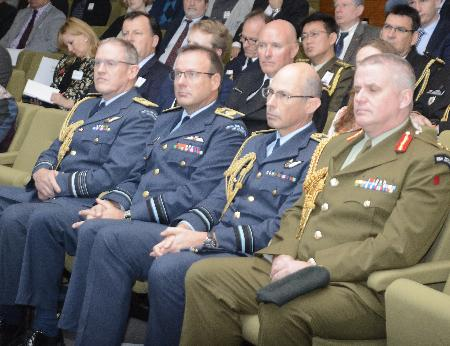 Heads of the ASir Force and Army at the launch