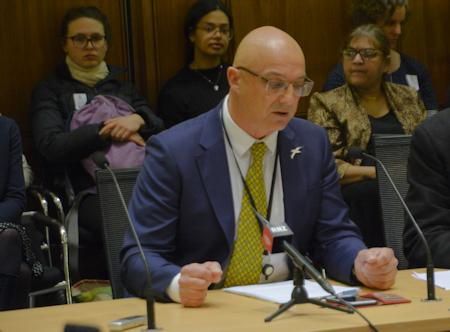 Forest and Bird CEO, Kevin Hague at the Environment Select Committee