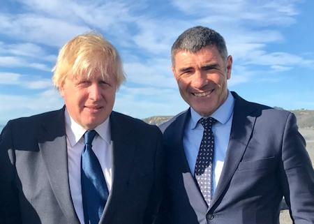 British PM Boris Johnson with Todd Muller in New Zealand in 2017