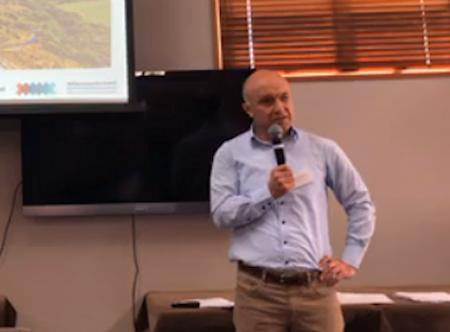 The Head of the Water Directorate, Ministry for the Environment, Martin Workman, at the Winton meeting.